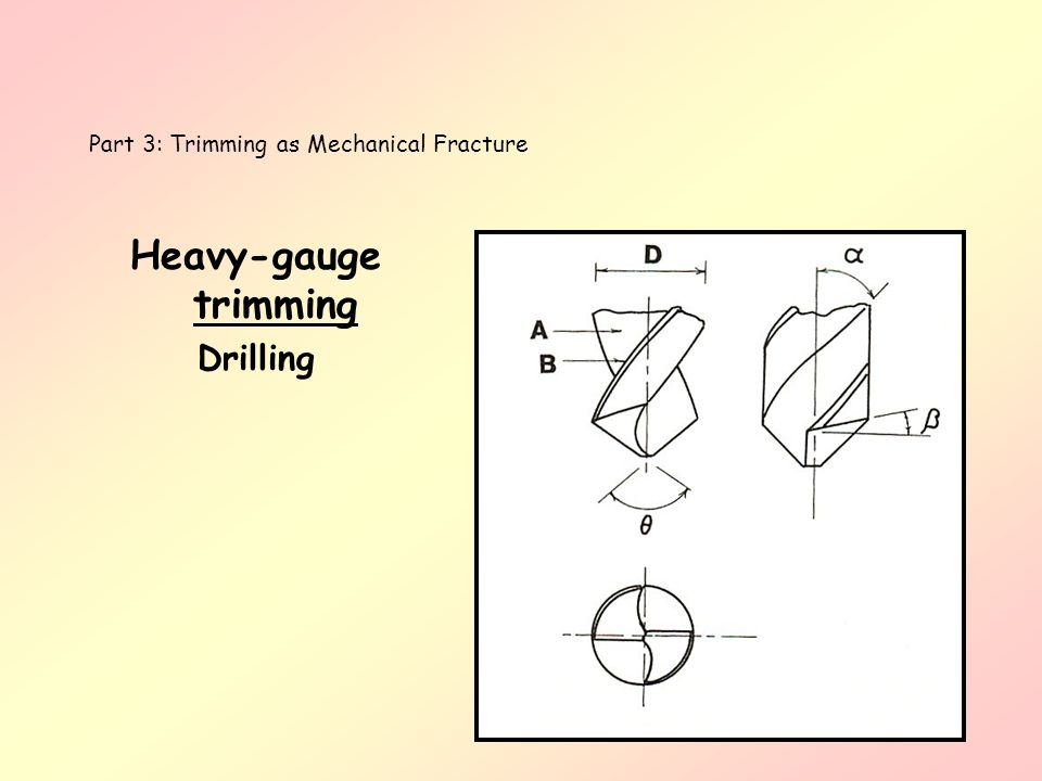 Heavy-gauge trimming Drilling Part 3: Trimming as Mechanical Fracture
