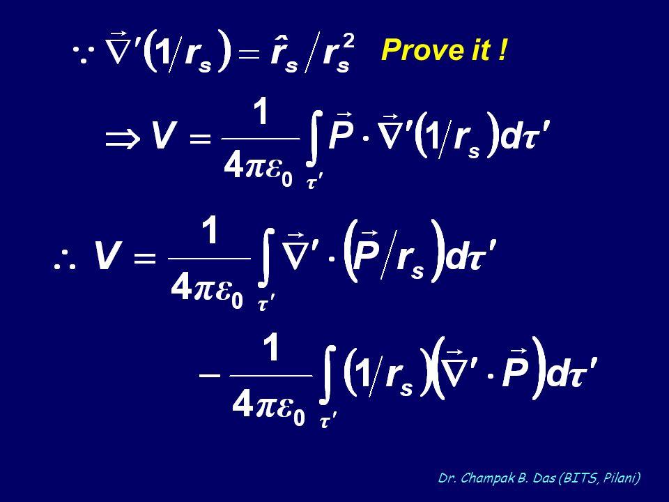 Dr. Champak B. Das (BITS, Pilani) Prove it !