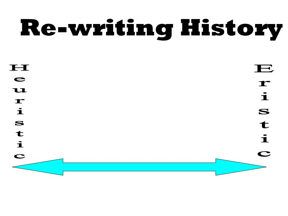 Re-writing History