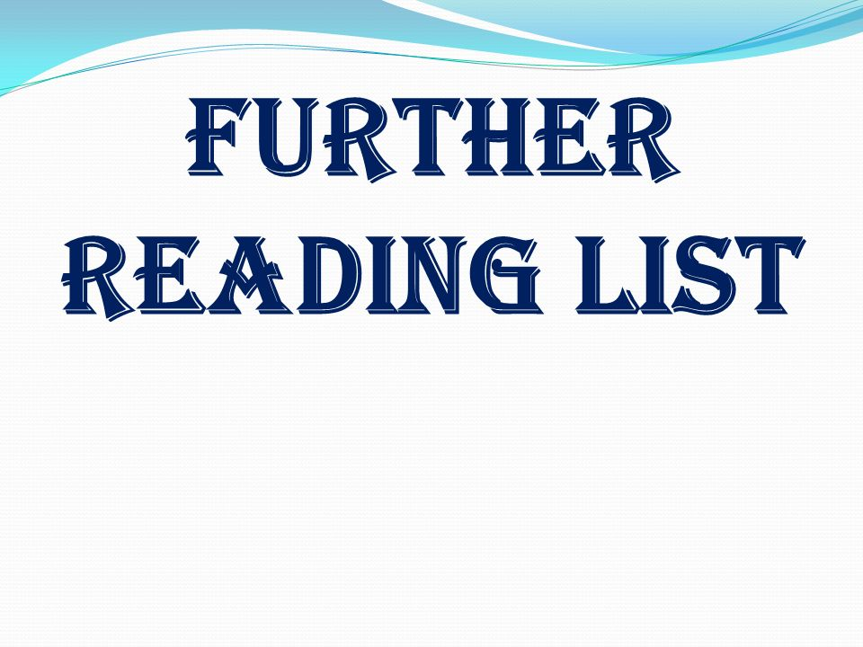 Further Reading LIST