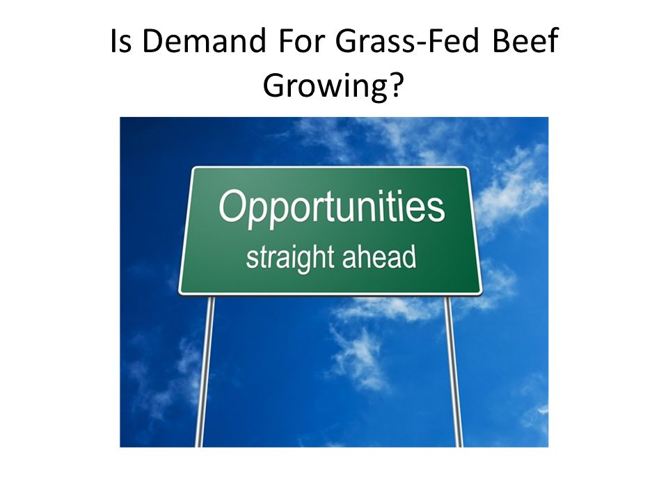 Is Demand For Grass-Fed Beef Growing