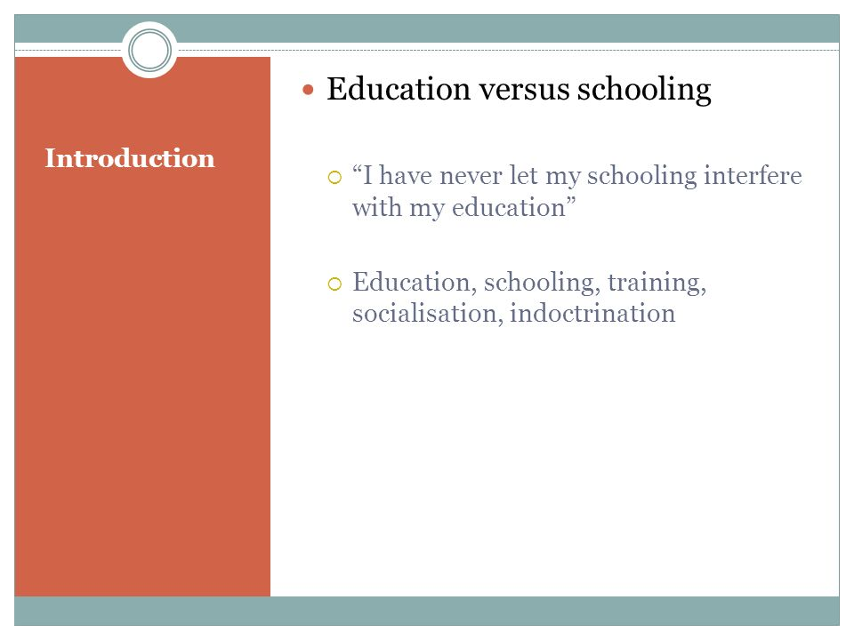 Conclusion: The struggle for education The task for the education profession today.