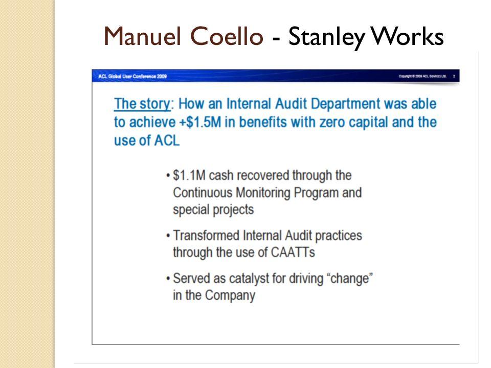 Manuel Coello - Stanley Works