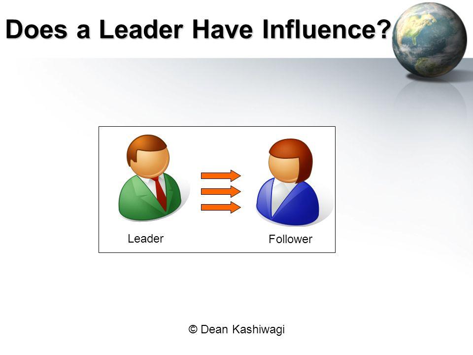 © Dean Kashiwagi Does a Leader Have Influence? Leader Follower