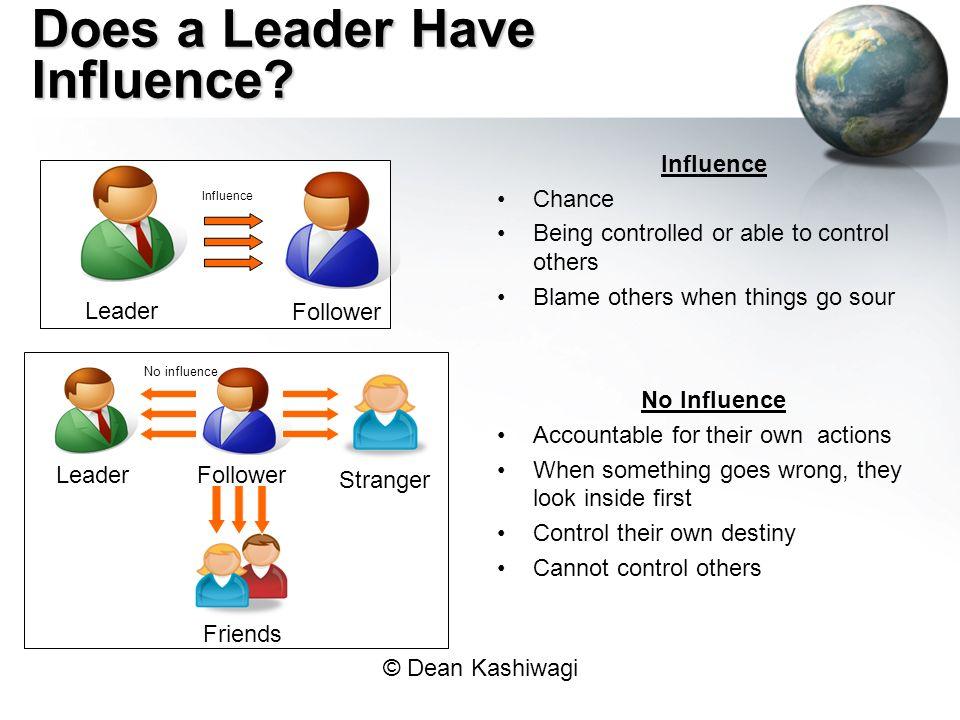 © Dean Kashiwagi Does a Leader Have Influence.