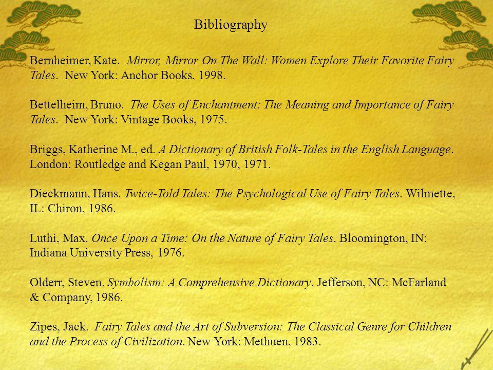 Bibliography Bernheimer, Kate.