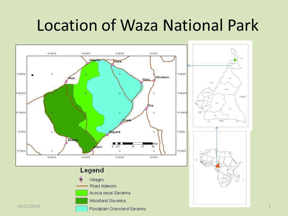Location of Waza National Park 06/01/20145