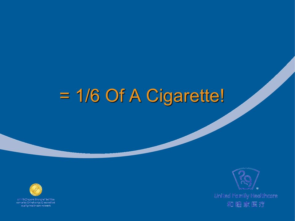 = 1/6 Of A Cigarette!