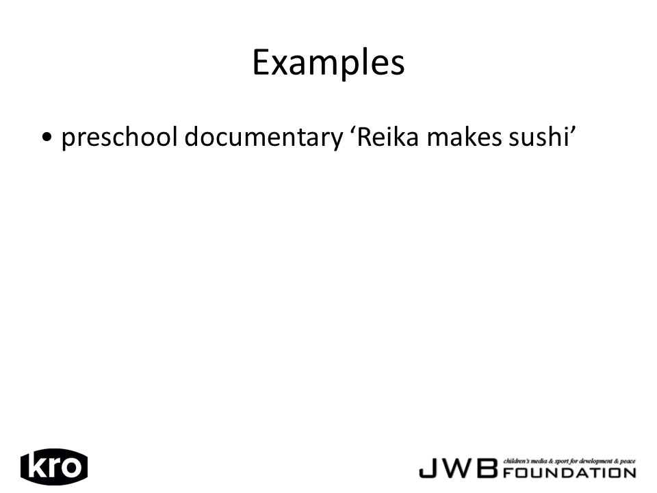 preschool documentary Reika makes sushi