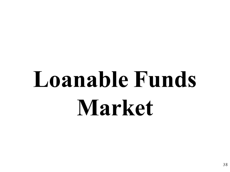 Loanable Funds Market 38
