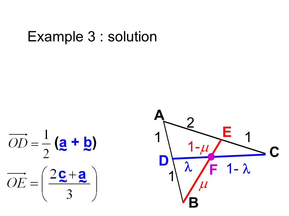 E C D B F 1 1- A 2 1 1 1- ~ (a + b) ~ c ~ a Example 3 : solution