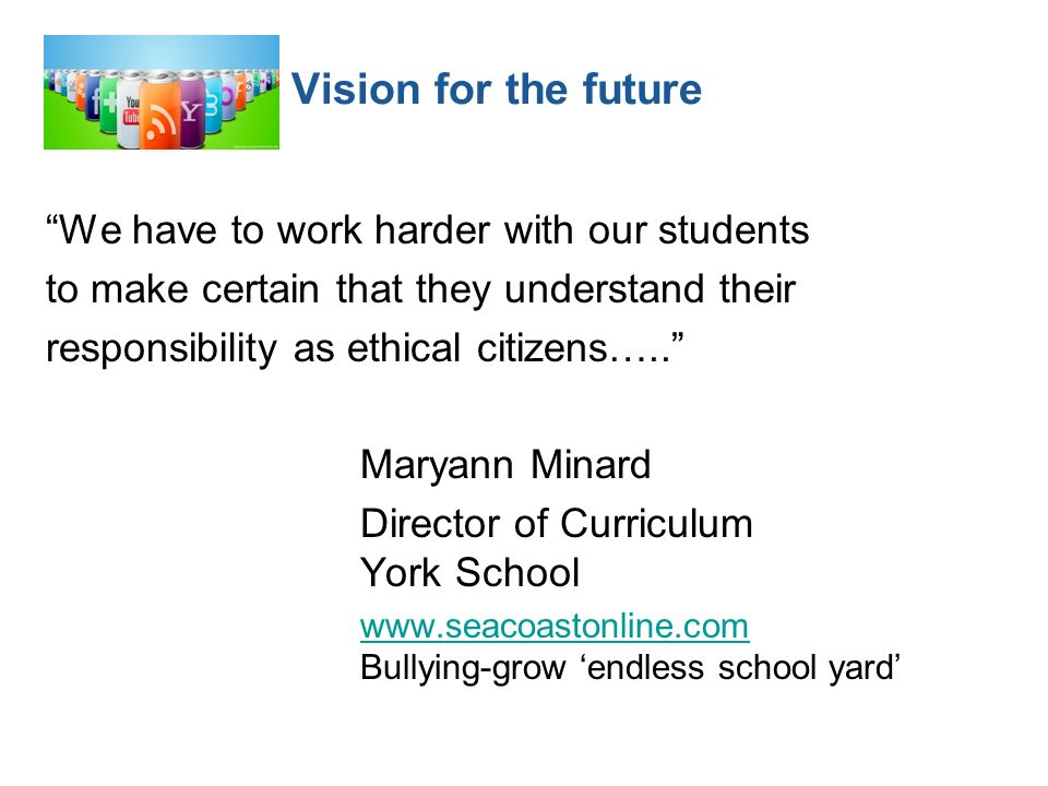 We have to work harder with our students to make certain that they understand their responsibility as ethical citizens…..