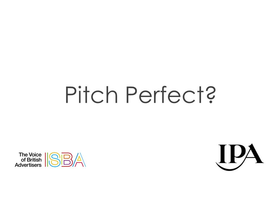 Pitch Perfect?