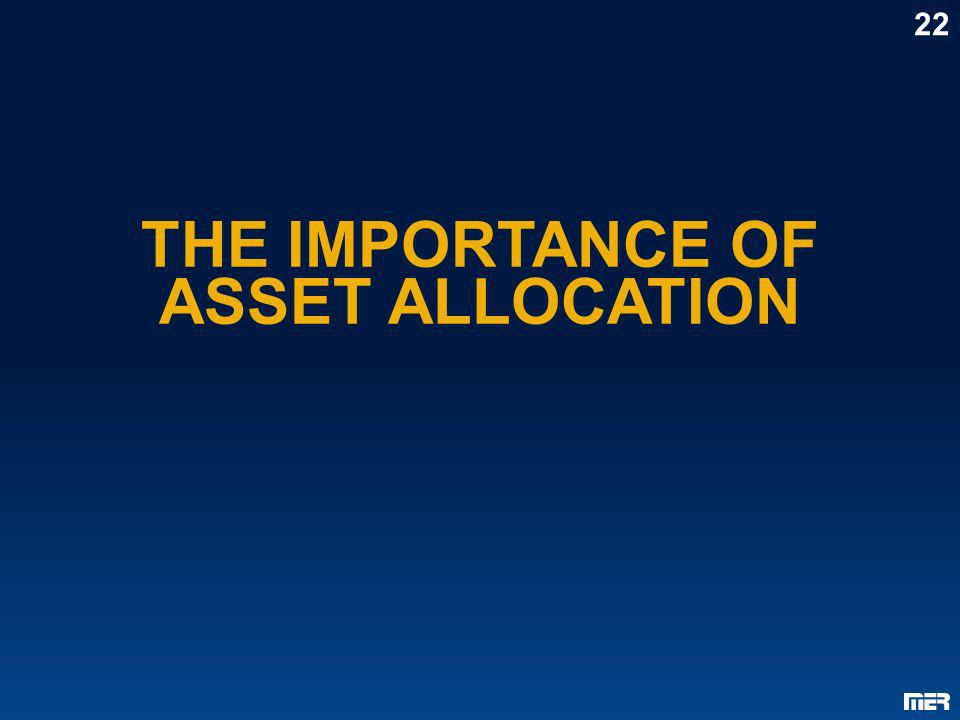 THE IMPORTANCE OF ASSET ALLOCATION 22