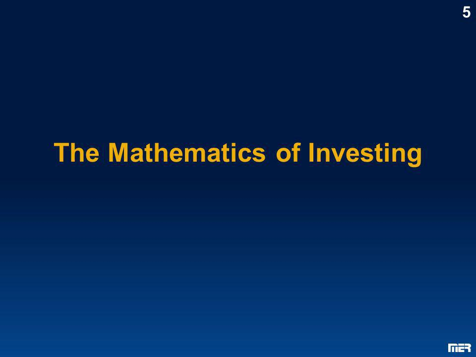 The Mathematics of Investing 5