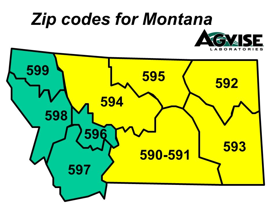 Zip codes for Montana