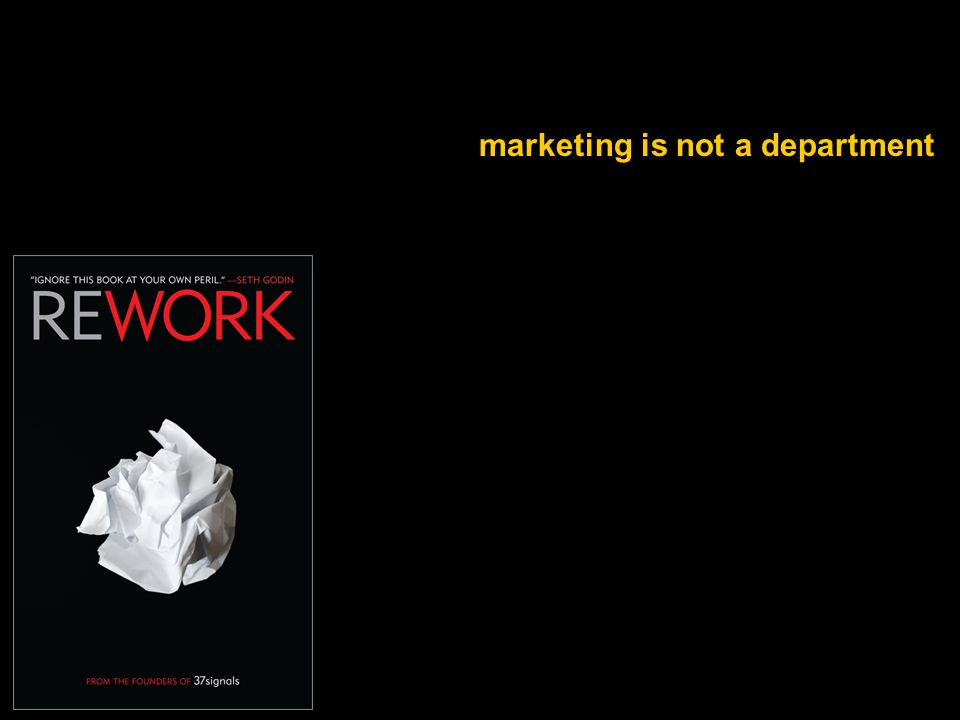 marketing is not a department