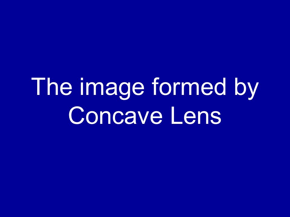 The image formed by Concave Lens