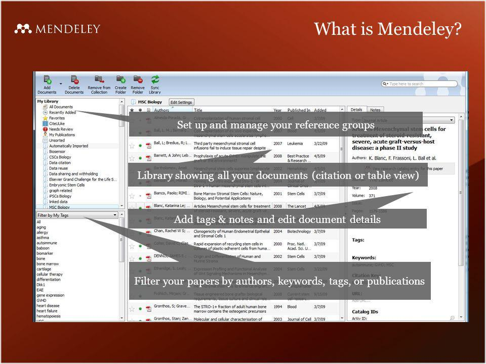 What is Mendeley.