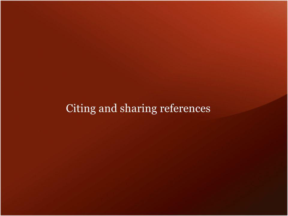 Citing and sharing references