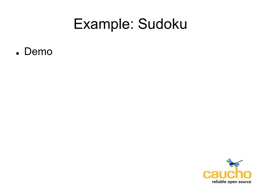 Example: Sudoku Demo