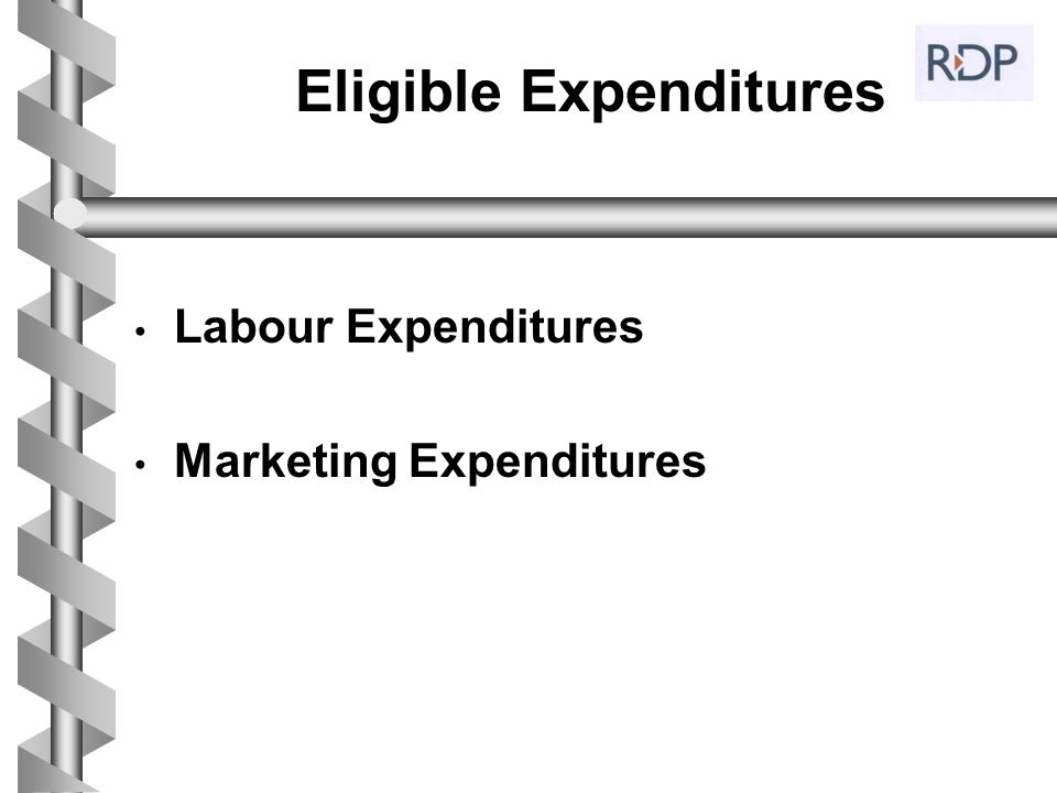 Eligible Expenditures Labour Expenditures Marketing Expenditures
