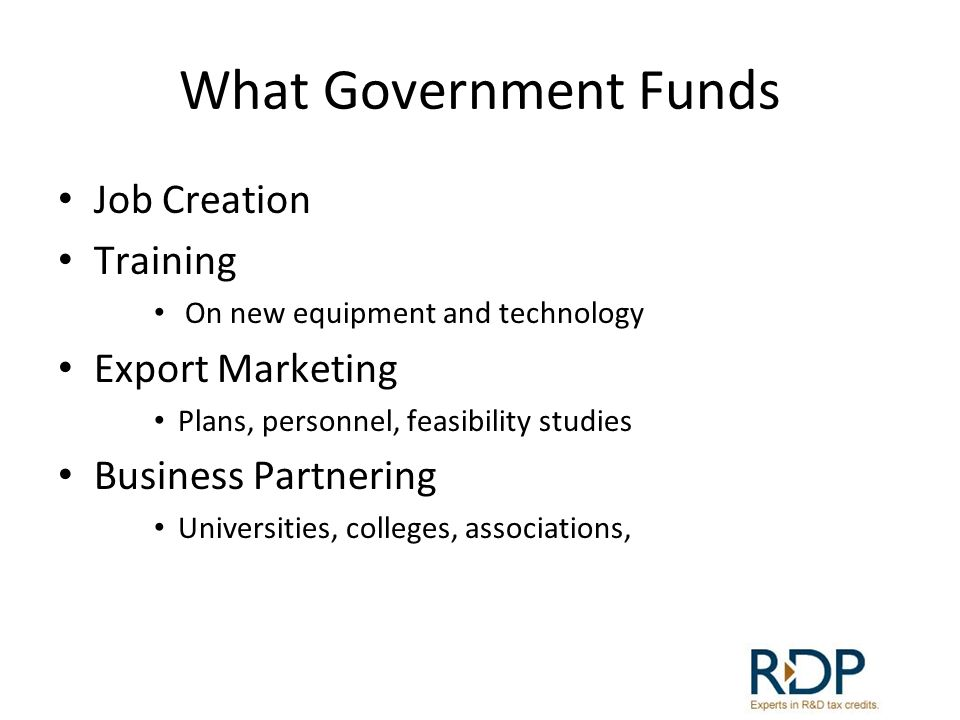 What Government Funds Investment Manufacturing equipment Energy Saving Designs, devices Innovation R&D, new environment technologies, agricultural, Product and process development