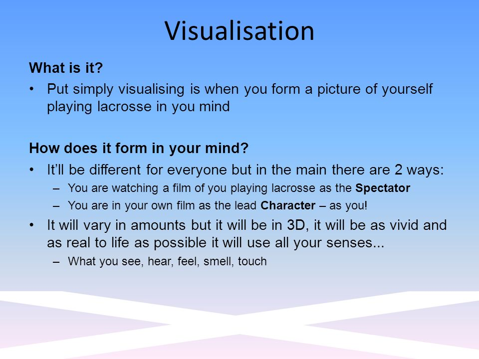 Visualisation What is it.