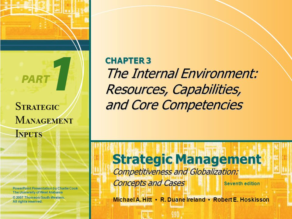 PowerPoint Presentation by Charlie Cook The University of West Alabama Strategic Management Competitiveness and Globalization: Concepts and Cases Mich