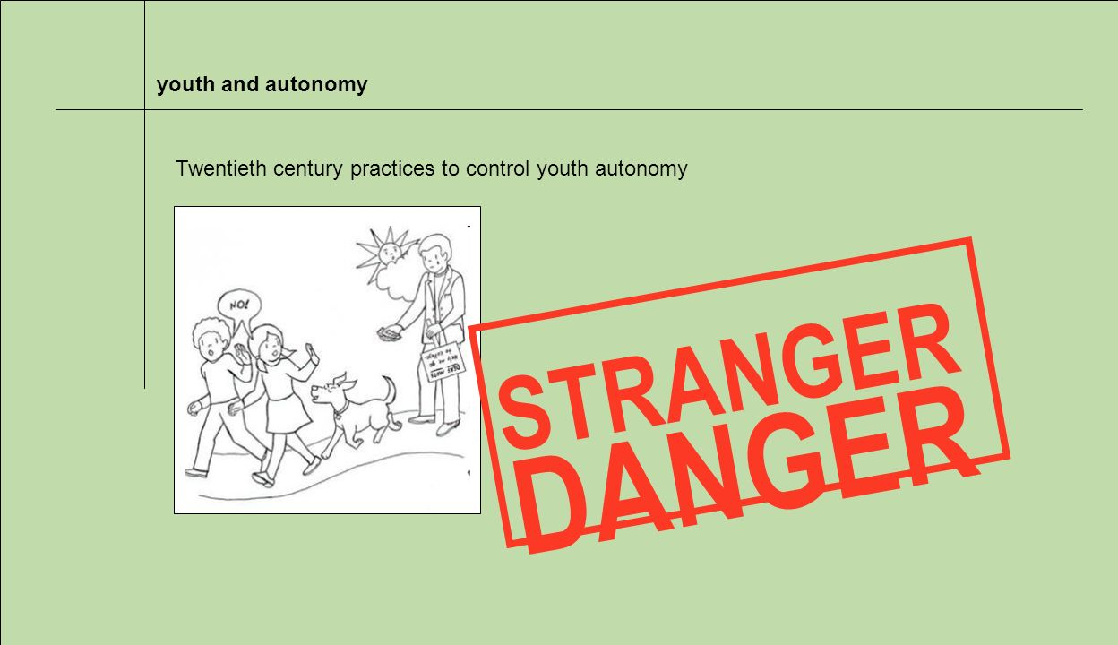 youth and autonomy STRANGER DANGER Twentieth century practices to control youth autonomy