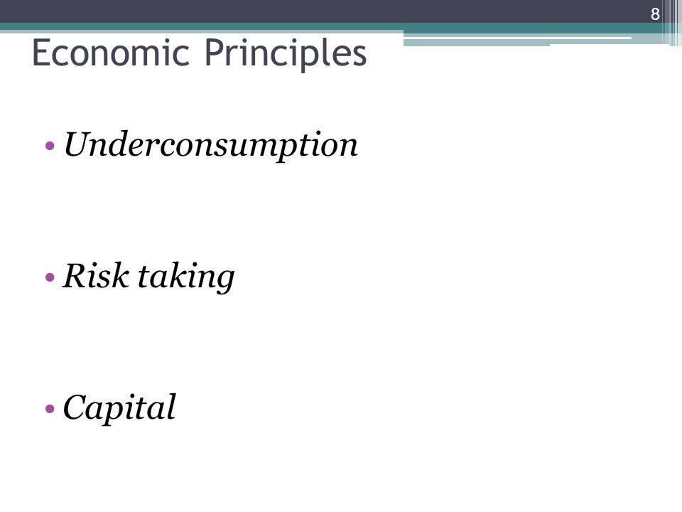 Underconsumption Risk taking Capital 8 Economic Principles