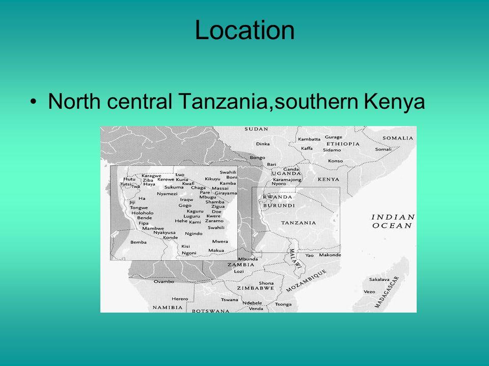 Location North central Tanzania,southern Kenya
