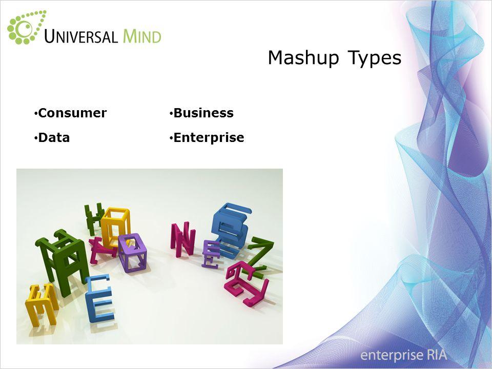 Mashup Types Enterprise Consumer Data Business