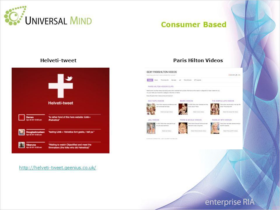 Consumer Based Helveti-tweetParis Hilton Videos http://helveti-tweet.geenius.co.uk/