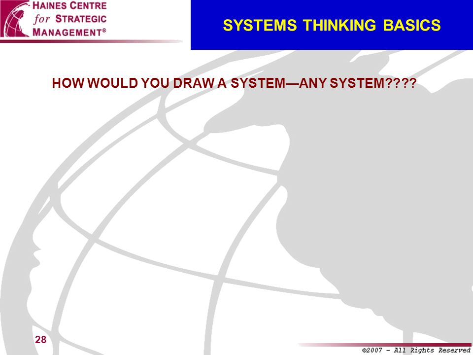28 SYSTEMS THINKING BASICS HOW WOULD YOU DRAW A SYSTEMANY SYSTEM????