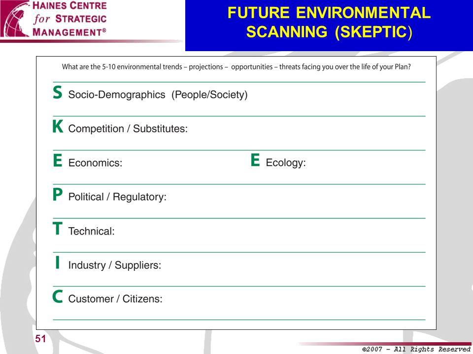 51 FUTURE ENVIRONMENTAL SCANNING (SKEPTIC)