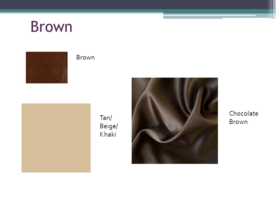 Brown Tan/ Beige/ Khaki Chocolate Brown