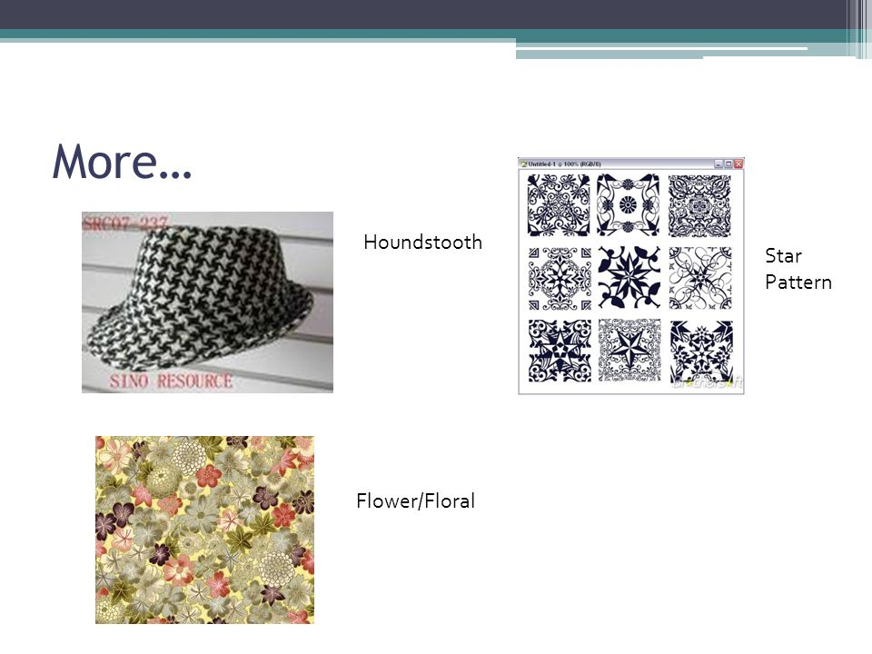 More… Houndstooth Flower/Floral Star Pattern
