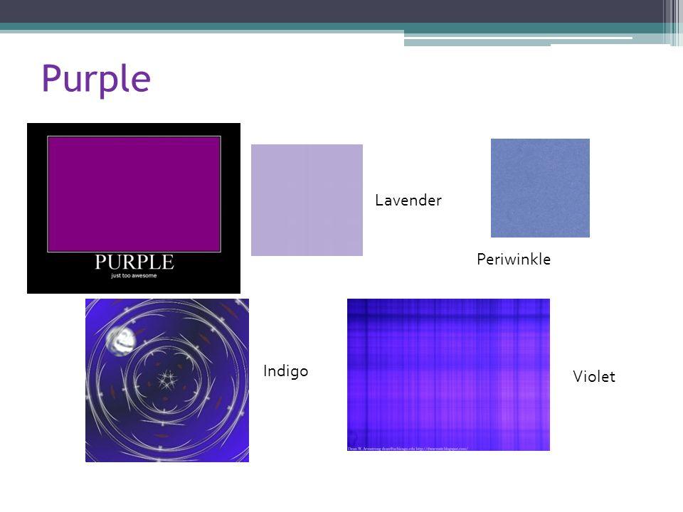 Purple Lavender Indigo Violet Periwinkle