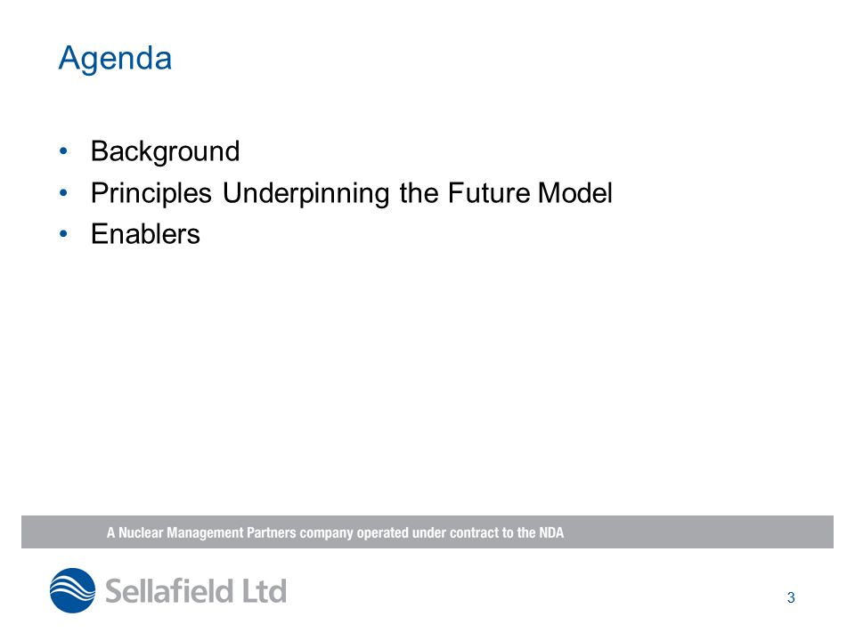 3 Agenda Background Principles Underpinning the Future Model Enablers 3