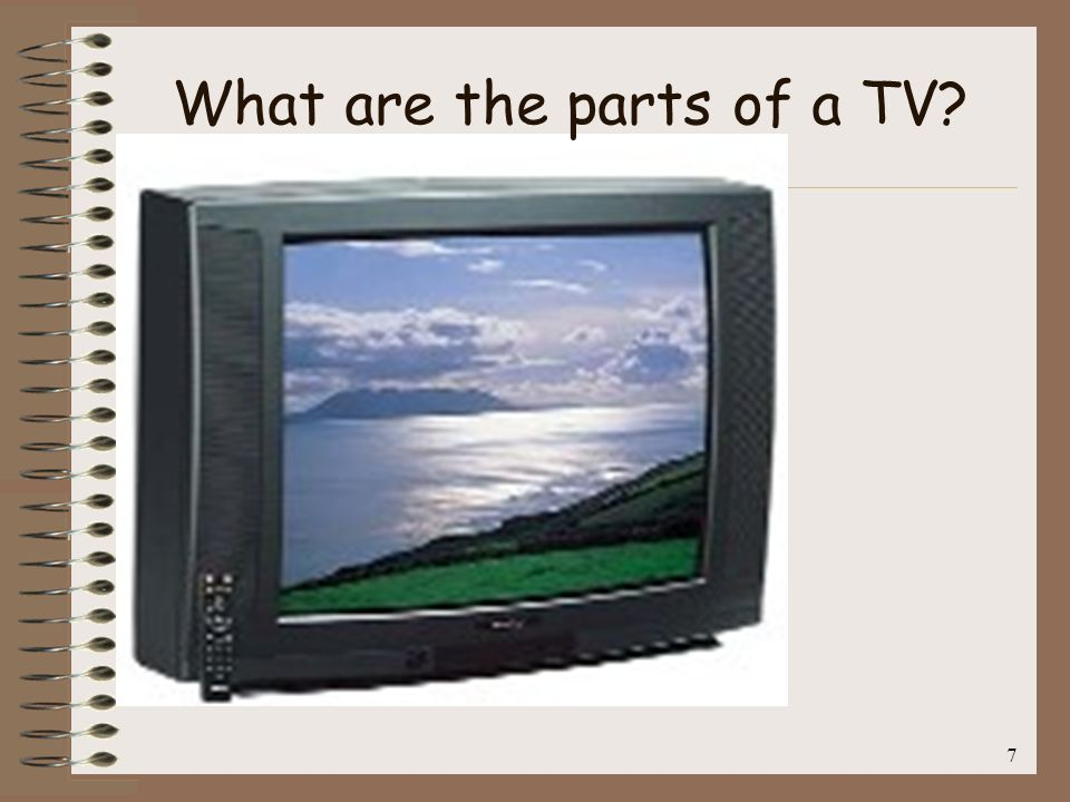 7 What are the parts of a TV?