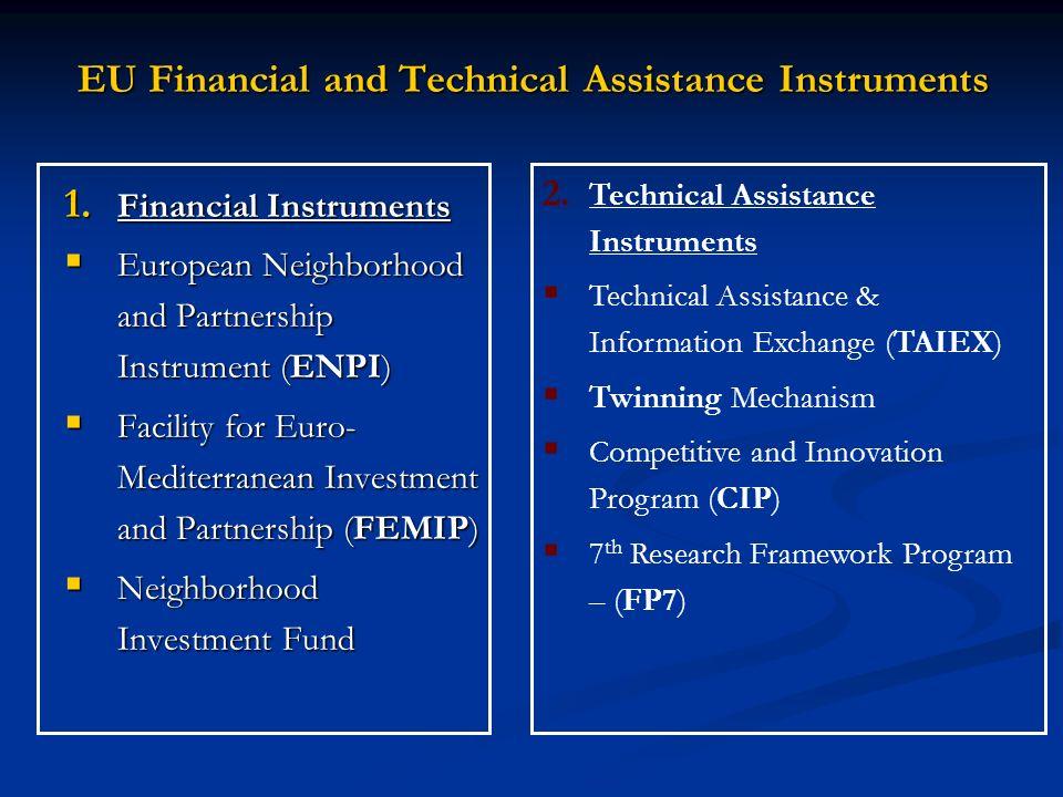 1. Financial Instruments European Neighborhood and Partnership Instrument (ENPI) European Neighborhood and Partnership Instrument (ENPI) Facility for