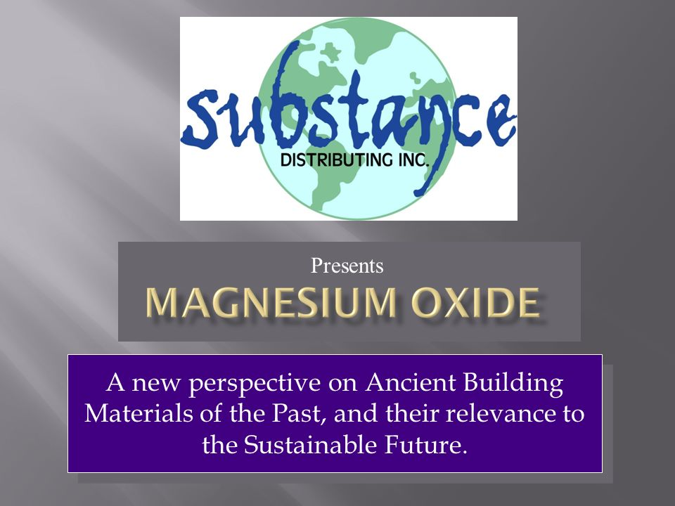A new perspective on Ancient Building Materials of the Past, and their relevance to the Sustainable Future. Presents
