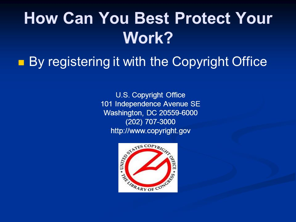 What is a Copyright Notice and What are Its Benefits? The notice consists of the © symbol, name of the copyright holder and the date the work was publ