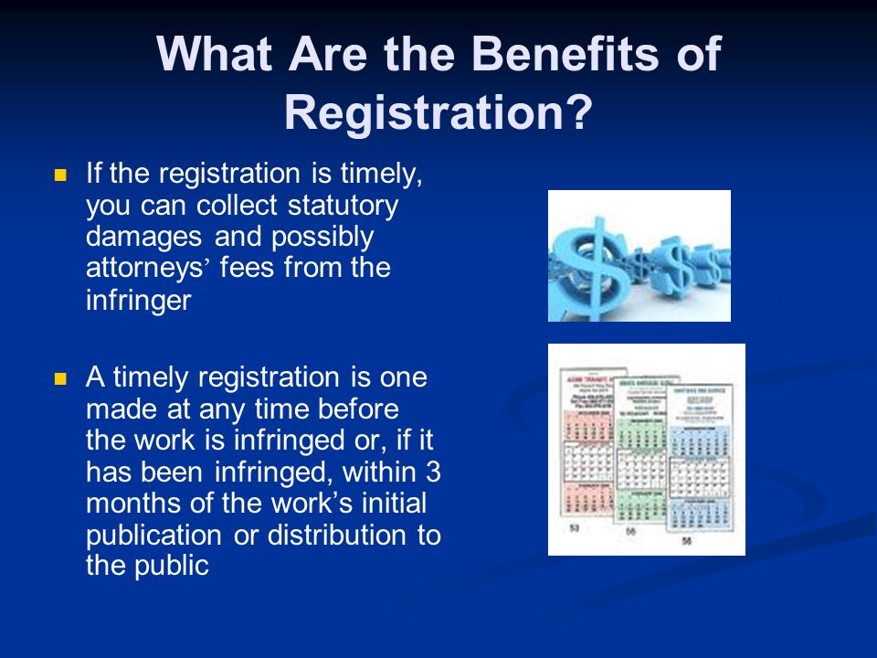 How Can You Best Protect Your Work? By registering it with the Copyright Office U.S. Copyright Office 101 Independence Avenue SE Washington, DC 20559-