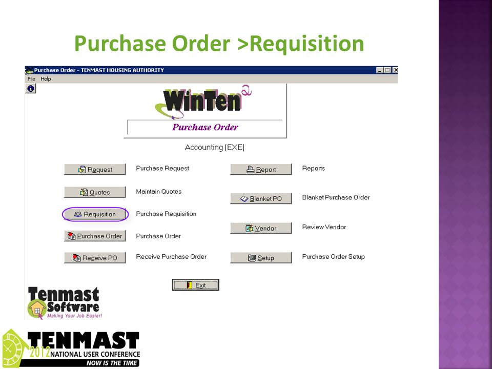 Add New Requisition Requisition is a group of requests