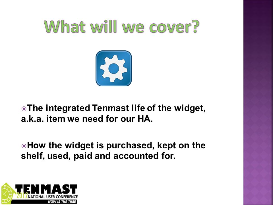 The integrated Tenmast life of the widget, a.k.a. item we need for our HA.