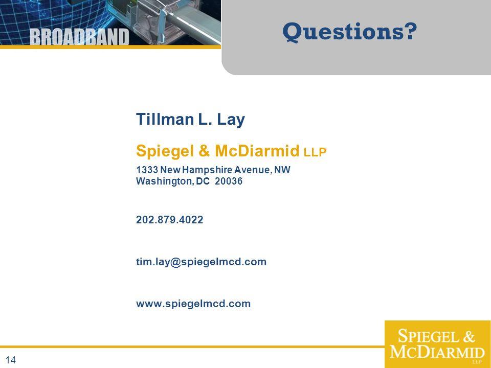 Questions. Tillman L.