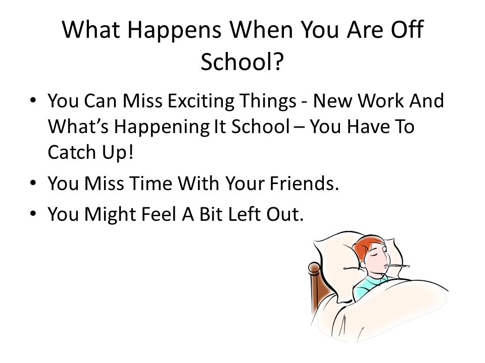 What Happens When You Are Off School? You Can Miss Exciting Things - New Work And Whats Happening It School – You Have To Catch Up! You Miss Time With