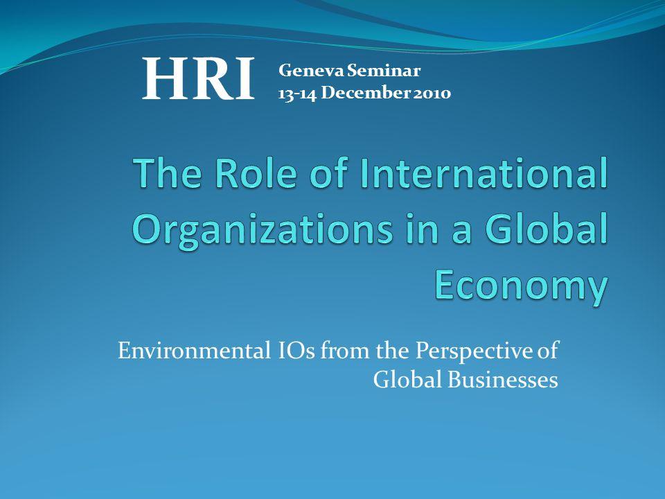 Environmental IOs from the Perspective of Global Businesses HRI Geneva Seminar 13-14 December 2010